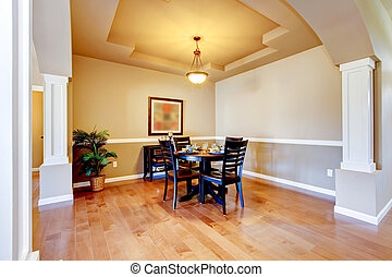 New home dining room interior.