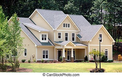 Photographed new home at Georgia country side.