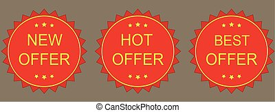 New, hot, best Offer Labels