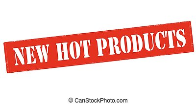 New hot products - Rubber stamp with text new hot products...