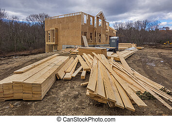 New house construction framing