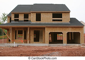 New house construction site