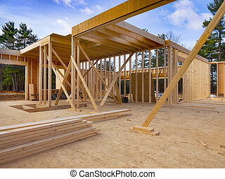 New house construction - New residential house under ...