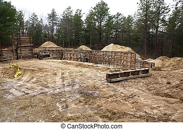 New house foundation.