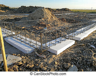 New house foundation under consruction - Constructing new ...