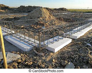 New house foundation under consruction - Constructing new ...