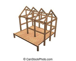 New house framework