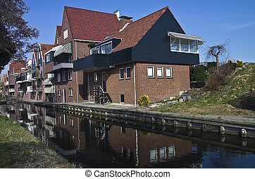 New house in the Dutch village.
