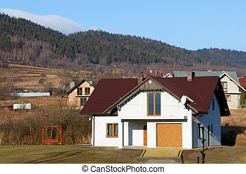 New house in the mountain