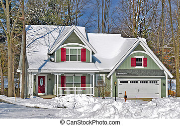 new house in winter