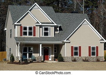 New House - Photographed a new house at a development in ...