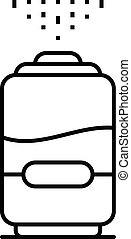 New humidifier icon, outline style - New humidifier icon....