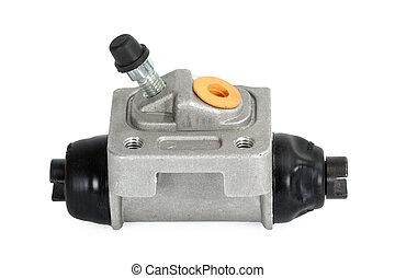 New hydraulic cylinder brake drum (isolated) - New hydraulic...