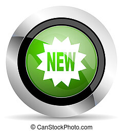 new icon, green button