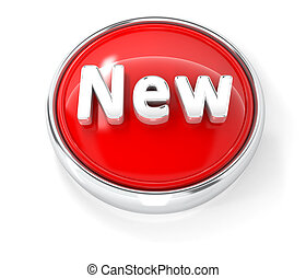 New icon on glossy red round button