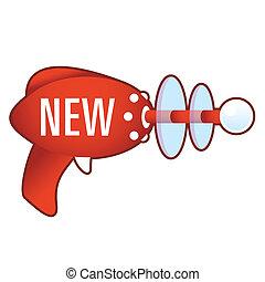 New icon on retro raygun