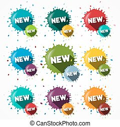 New Icons Set -   Blots - Splashes Symbols