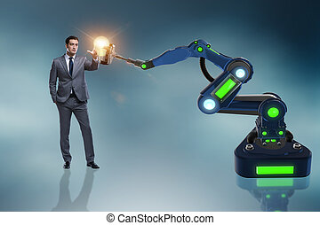 New idea concept with businessman