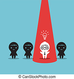 New Idea - Creative Business man stand out from co-worker