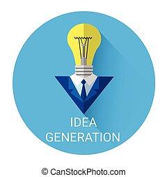 New Idea Generation Light Bulb Business Icon