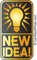 new idea light bulb (new idea symbol, classic light bulb)