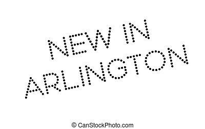 New In Arlington rubber stamp