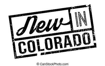 New In Colorado rubber stamp