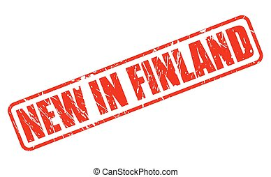 NEW IN FINLAND red stamp text