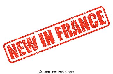 NEW IN FRANCE red stamp text