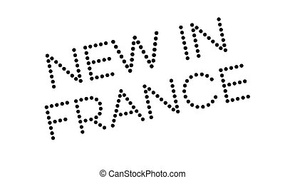 New In France rubber stamp