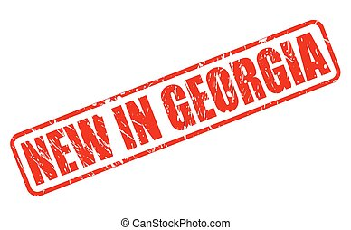 NEW IN GEORGIA red stamp text
