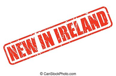 NEW IN IRELAND red stamp text