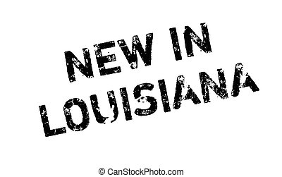 New In Louisiana rubber stamp. Grunge design with dust...
