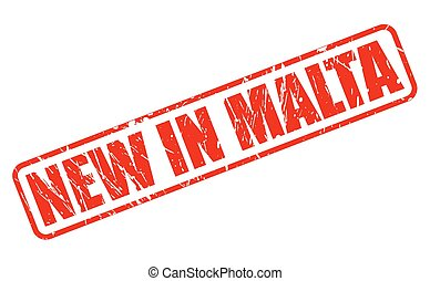 NEW IN MALTA red stamp text