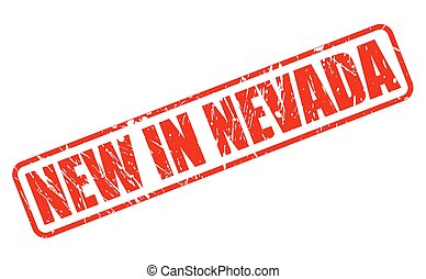 NEW IN NEVADA red stamp text