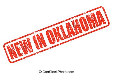 NEW IN OKLAHOMA red stamp text