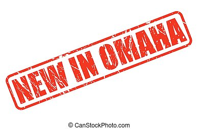 NEW IN OMAHA red stamp text on white