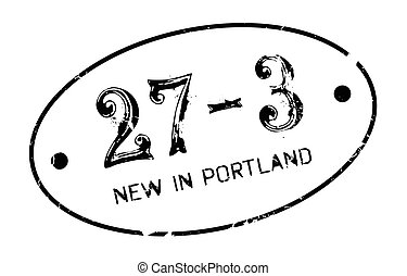 New In Portland rubber stamp