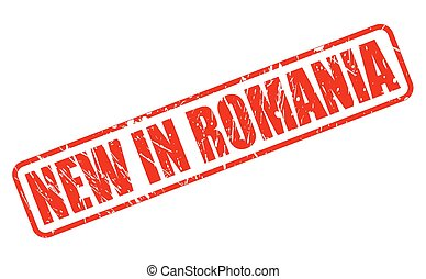 NEW IN ROMANIA red stamp text