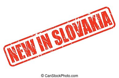 NEW IN SLOVAKIA red stamp text