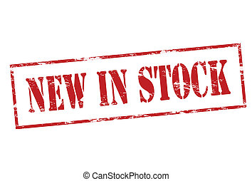 New in stock - Rubber stamp with text new in stock inside,...