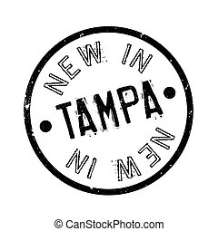 New In Tampa rubber stamp