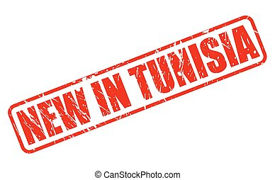 NEW IN TUNISIA red stamp text
