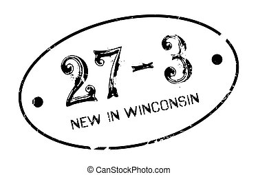 New In Winconsin rubber stamp