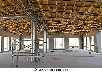 New Industrial Construction - A new building under ...