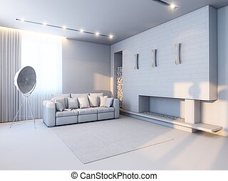 new interior design in the style of