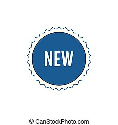 New Item Badge Vector Outline Icon Illustration