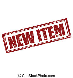 Grunge rubber stamp with text New Item, vector illustration