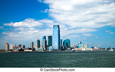New Jersey City - New Jersey and river Hudson