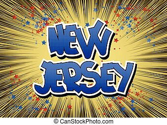 New Jersey - Comic book style word